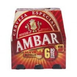 AMBAR cerveza rubia especial pack 12 botellas 25 cl