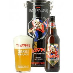 CAJA METALICA NEGRA IRON MAIDEN TROOPER 50 CL.
